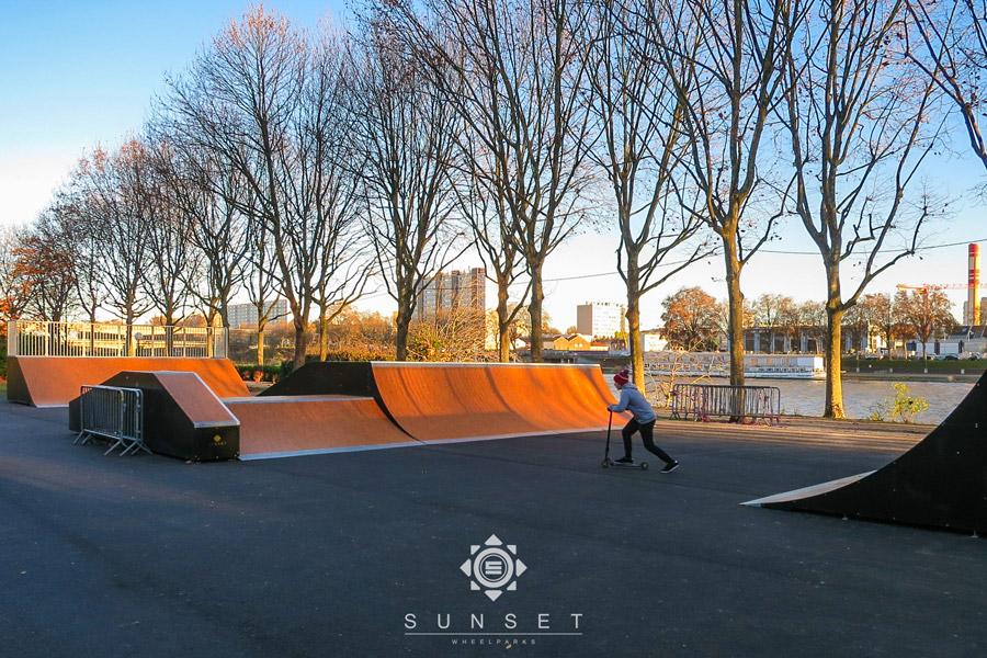 Skatepark à Asnières-sur-Seine (92)